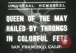 Image of Queen of the May San Francisco California USA, 1937, second 11 stock footage video 65675063189