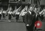 Image of May Day parade New York City USA, 1937, second 16 stock footage video 65675063190