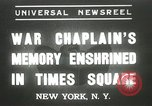 Image of Duffy Memorial unveiling ceremony New York City USA, 1937, second 1 stock footage video 65675063192