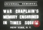 Image of Duffy Memorial unveiling ceremony New York City USA, 1937, second 2 stock footage video 65675063192