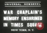 Image of Duffy Memorial unveiling ceremony New York City USA, 1937, second 3 stock footage video 65675063192