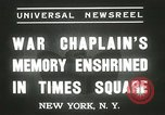 Image of Duffy Memorial unveiling ceremony New York City USA, 1937, second 4 stock footage video 65675063192