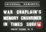 Image of Duffy Memorial unveiling ceremony New York City USA, 1937, second 5 stock footage video 65675063192
