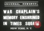 Image of Duffy Memorial unveiling ceremony New York City USA, 1937, second 7 stock footage video 65675063192