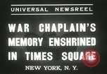 Image of Duffy Memorial unveiling ceremony New York City USA, 1937, second 8 stock footage video 65675063192