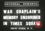 Image of Duffy Memorial unveiling ceremony New York City USA, 1937, second 10 stock footage video 65675063192