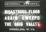 Image of flood damage Wheeling West Virginia USA, 1937, second 1 stock footage video 65675063193
