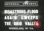Image of flood damage Wheeling West Virginia USA, 1937, second 2 stock footage video 65675063193