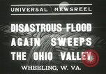 Image of flood damage Wheeling West Virginia USA, 1937, second 5 stock footage video 65675063193