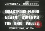 Image of flood damage Wheeling West Virginia USA, 1937, second 10 stock footage video 65675063193