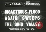 Image of flood damage Wheeling West Virginia USA, 1937, second 11 stock footage video 65675063193