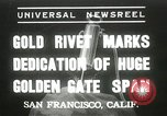 Image of Golden Gate bridge dedication San Francisco California USA, 1937, second 1 stock footage video 65675063194
