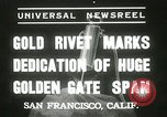 Image of Golden Gate bridge dedication San Francisco California USA, 1937, second 2 stock footage video 65675063194