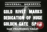 Image of Golden Gate bridge dedication San Francisco California USA, 1937, second 3 stock footage video 65675063194