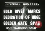 Image of Golden Gate bridge dedication San Francisco California USA, 1937, second 4 stock footage video 65675063194