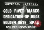 Image of Golden Gate bridge dedication San Francisco California USA, 1937, second 5 stock footage video 65675063194