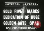 Image of Golden Gate bridge dedication San Francisco California USA, 1937, second 7 stock footage video 65675063194