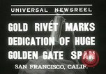 Image of Golden Gate bridge dedication San Francisco California USA, 1937, second 8 stock footage video 65675063194