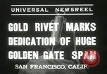 Image of Golden Gate bridge dedication San Francisco California USA, 1937, second 9 stock footage video 65675063194