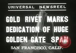 Image of Golden Gate bridge dedication San Francisco California USA, 1937, second 10 stock footage video 65675063194