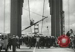 Image of Golden Gate bridge dedication San Francisco California USA, 1937, second 32 stock footage video 65675063194