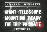 Image of mounting of telescope Lester Pennsylvania USA, 1937, second 2 stock footage video 65675063195