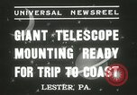 Image of mounting of telescope Lester Pennsylvania USA, 1937, second 4 stock footage video 65675063195