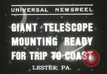 Image of mounting of telescope Lester Pennsylvania USA, 1937, second 7 stock footage video 65675063195