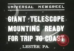 Image of mounting of telescope Lester Pennsylvania USA, 1937, second 9 stock footage video 65675063195