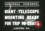 Image of mounting of telescope Lester Pennsylvania USA, 1937, second 11 stock footage video 65675063195