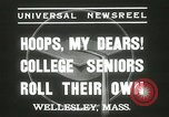 Image of hoop-rolling championship Wellesley Massachusetts USA, 1937, second 5 stock footage video 65675063196