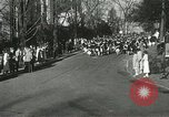 Image of hoop-rolling championship Wellesley Massachusetts USA, 1937, second 15 stock footage video 65675063196