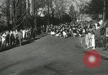 Image of hoop-rolling championship Wellesley Massachusetts USA, 1937, second 16 stock footage video 65675063196