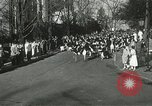 Image of hoop-rolling championship Wellesley Massachusetts USA, 1937, second 18 stock footage video 65675063196