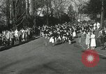 Image of hoop-rolling championship Wellesley Massachusetts USA, 1937, second 19 stock footage video 65675063196