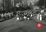 Image of hoop-rolling championship Wellesley Massachusetts USA, 1937, second 20 stock footage video 65675063196
