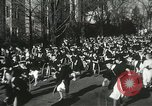 Image of hoop-rolling championship Wellesley Massachusetts USA, 1937, second 28 stock footage video 65675063196