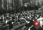 Image of hoop-rolling championship Wellesley Massachusetts USA, 1937, second 29 stock footage video 65675063196