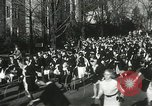 Image of hoop-rolling championship Wellesley Massachusetts USA, 1937, second 31 stock footage video 65675063196