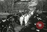 Image of hoop-rolling championship Wellesley Massachusetts USA, 1937, second 42 stock footage video 65675063196