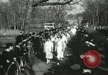 Image of hoop-rolling championship Wellesley Massachusetts USA, 1937, second 43 stock footage video 65675063196