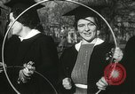 Image of hoop-rolling championship Wellesley Massachusetts USA, 1937, second 44 stock footage video 65675063196