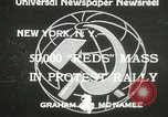 Image of communists New York United States USA, 1933, second 2 stock footage video 65675063198