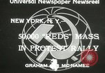 Image of communists New York United States USA, 1933, second 3 stock footage video 65675063198
