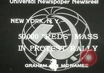 Image of communists New York United States USA, 1933, second 4 stock footage video 65675063198