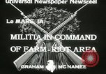 Image of Martial law Le Mars Iowa USA, 1933, second 7 stock footage video 65675063203