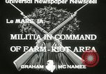 Image of Martial law Le Mars Iowa USA, 1933, second 8 stock footage video 65675063203