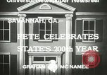 Image of 200th anniversary Savannah Georgia USA, 1933, second 9 stock footage video 65675063207