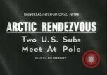 Image of United States submarines Arctic Ocean, 1962, second 2 stock footage video 65675063211