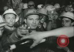 """Image of """"Holing through"""" of tunnel in Mont Blanc Europe, 1962, second 47 stock footage video 65675063219"""